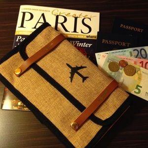 Apple & Bee travel wallet jet setter pouch wallet